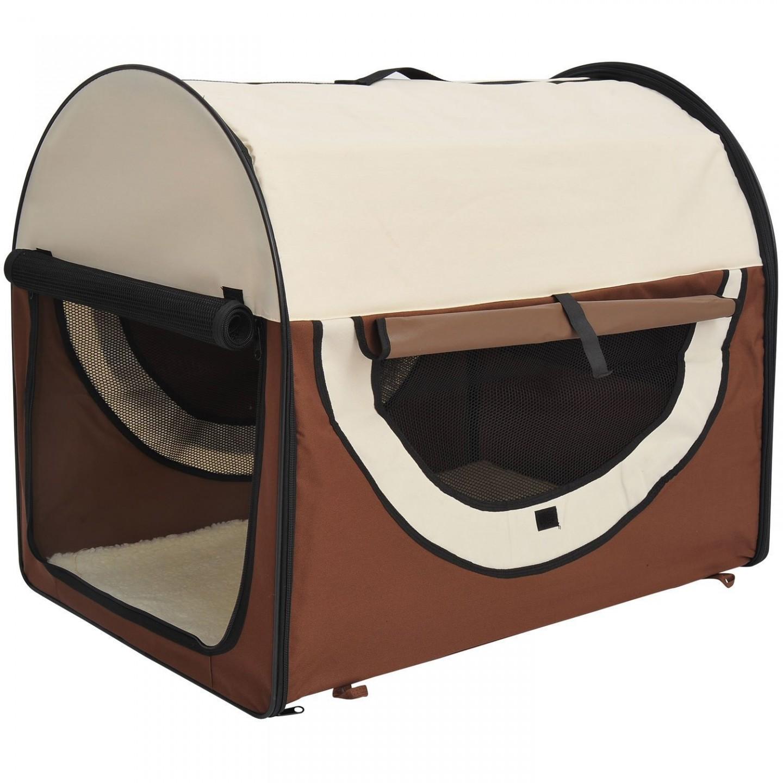 Goleto Přepravní box pro psy 61 x 46 x 51 cm | hnědý