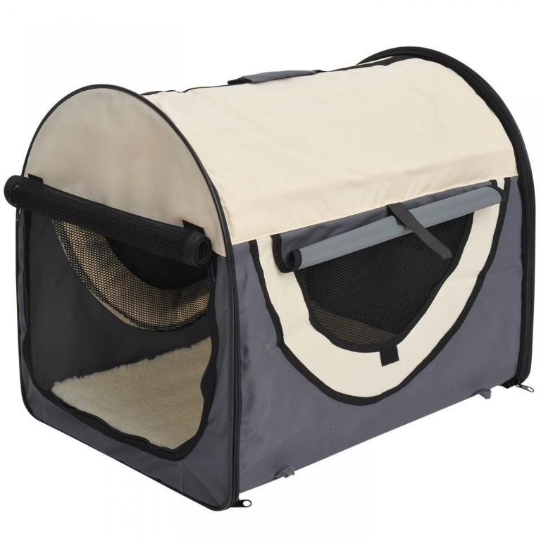 Přepravní box pro psy 46 x 36 x 41 cm | šedý