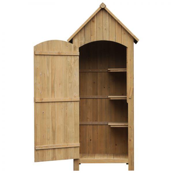 Goleto Dřevěná zahradní skříň na nářadí   77,5 x 54,2 x 179,5 cm