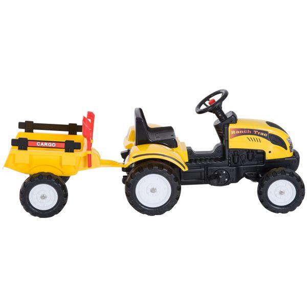 Goleto Šlapací traktor s přívěsem   žlutý