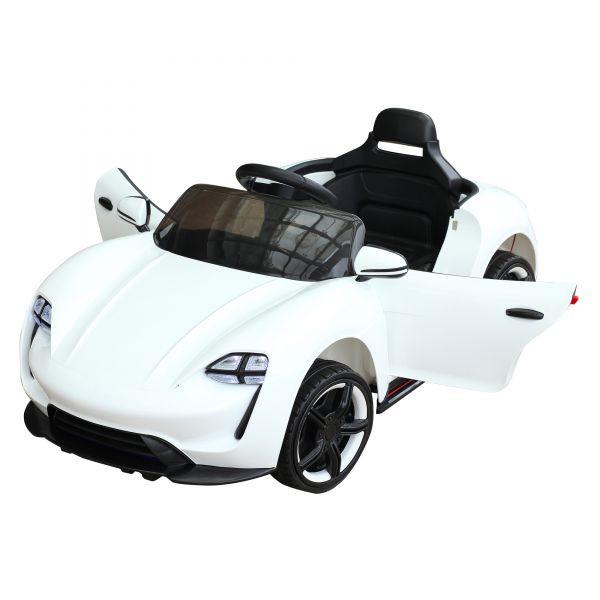 Goleto Sportovní dětské autíčko NEON QLS s dálkovým ovládáním | bílé