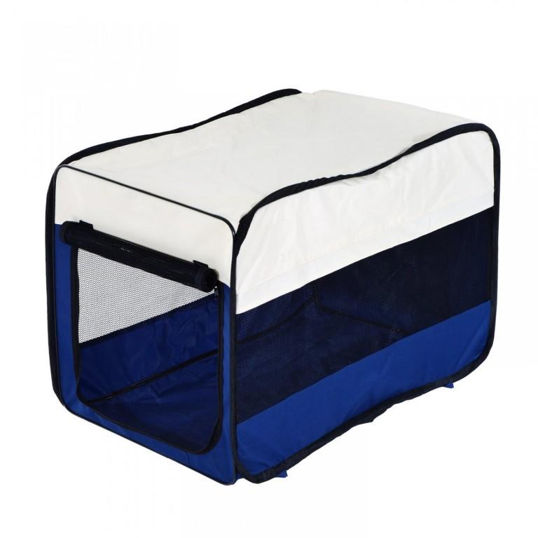 Přepravní box pro psy 50 x 33 x 30 cm | modrý
