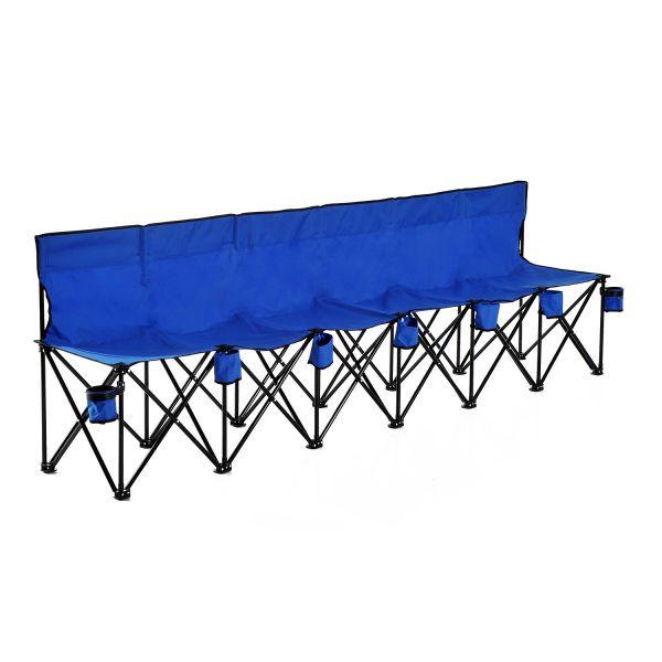 Goleto Campingová šestisedadlová židle | modrá