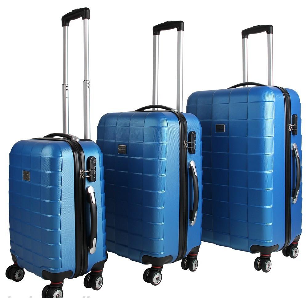 Goleto Sada cestovních kufrů 3 kusy   modrá