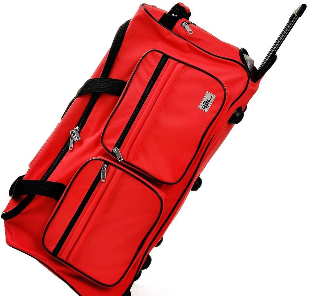 Goleto Cestovní taška na kolečkách 85L | červená