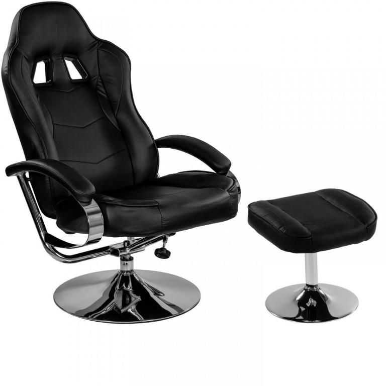 Kancelářská židle GT Relax Racer s podnožkou | černá