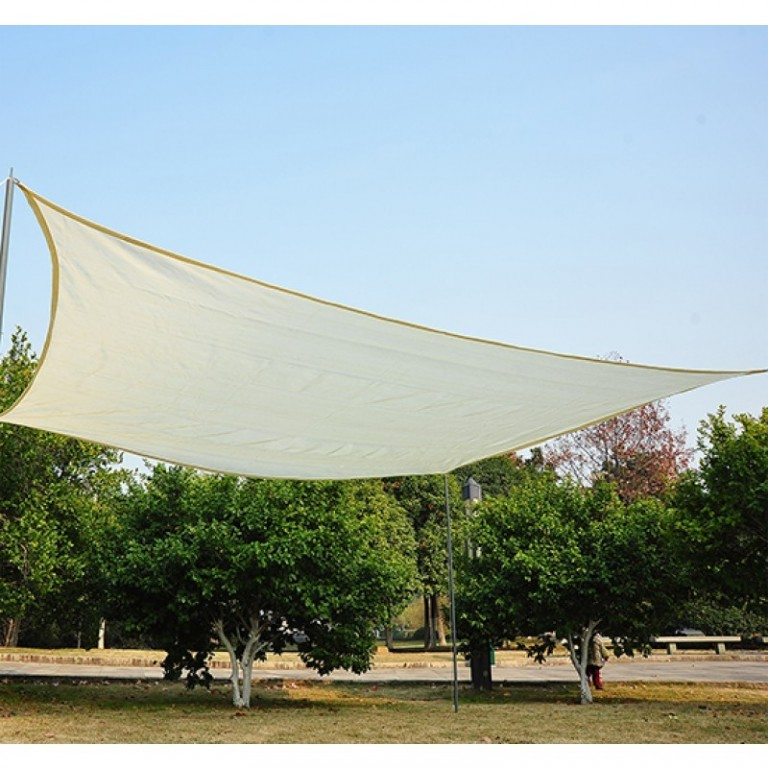 Stínící plachta proti slunci 3 x 4 m HDPE | krémová
