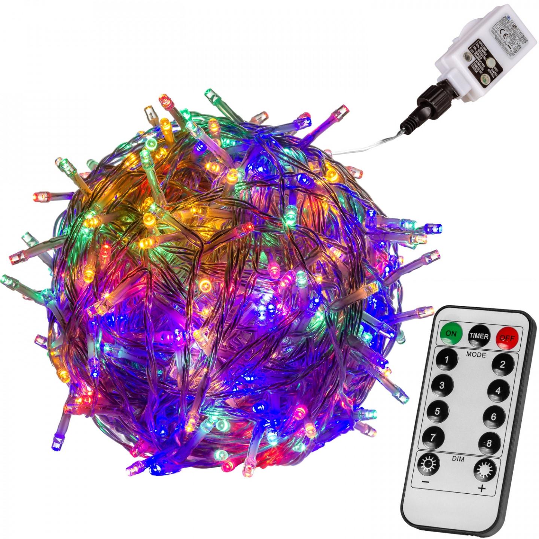 Goleto Vánoční LED osvětlení 10 m | barevné 100 LED