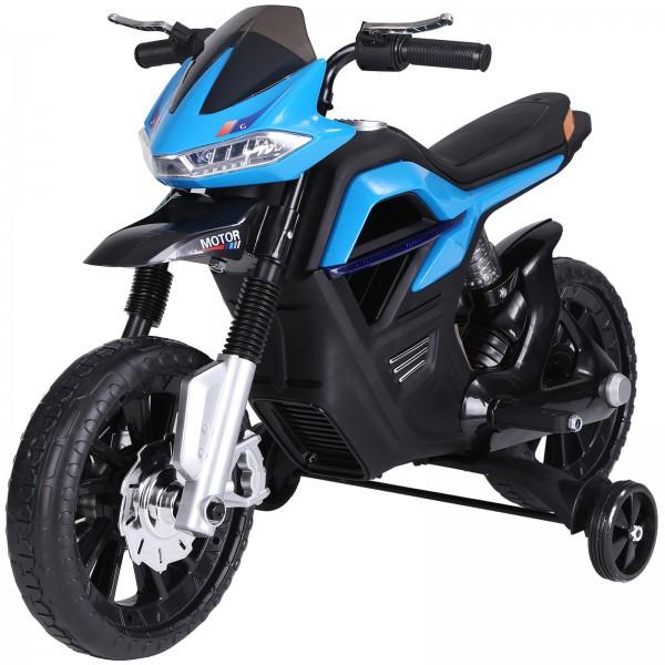 Goleto Dětská elektrická motorka 105 x 52,3 x 62,3 cm | modro-černá