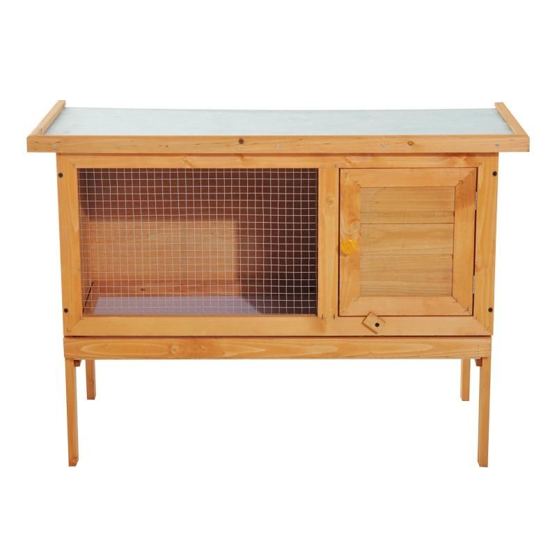 Goleto Dřevěná králíkárna 90 x 45 x 65 cm