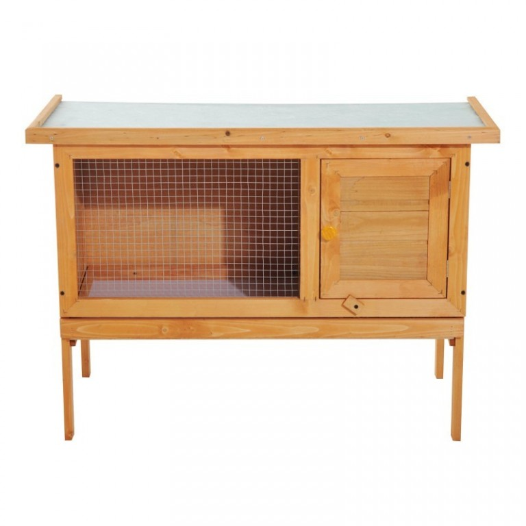 Dřevěná králíkárna 90 x 45 x 65 cm