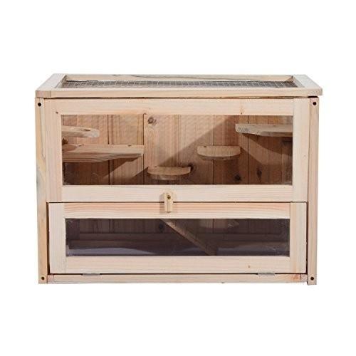 Dřevěná klec pro králíky a hlodavce 60 x 35 x 42 cm