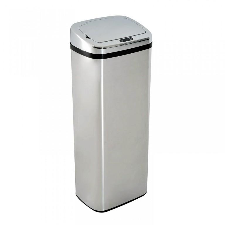 Automatický bezdotykový odpadkový koš 50 l, nerezový