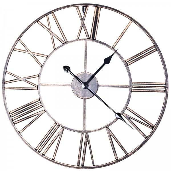 Goleto Nástěnné hodiny s římskými číslicemi | ∅58,5 x 3,5 cm