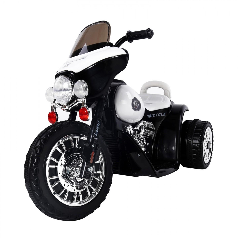 Goleto Dětská elektrická motorka Harley, černá