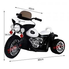Dětská elektrická motorka Harley, černá č.5