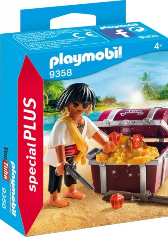 Levně Playmobil Playmobil 9358 Pirát s pokladem