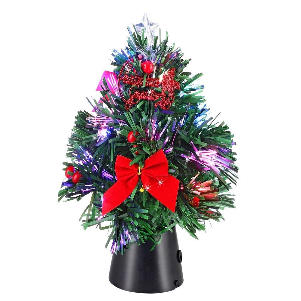Goleto Vánoční zdobený LED stromeček 24 cm | jedle
