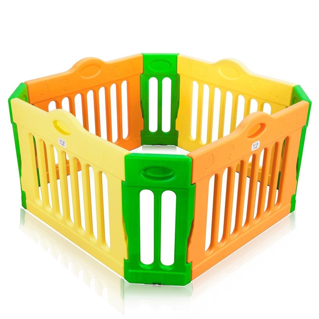 Dětská plastová ohrádka barevná