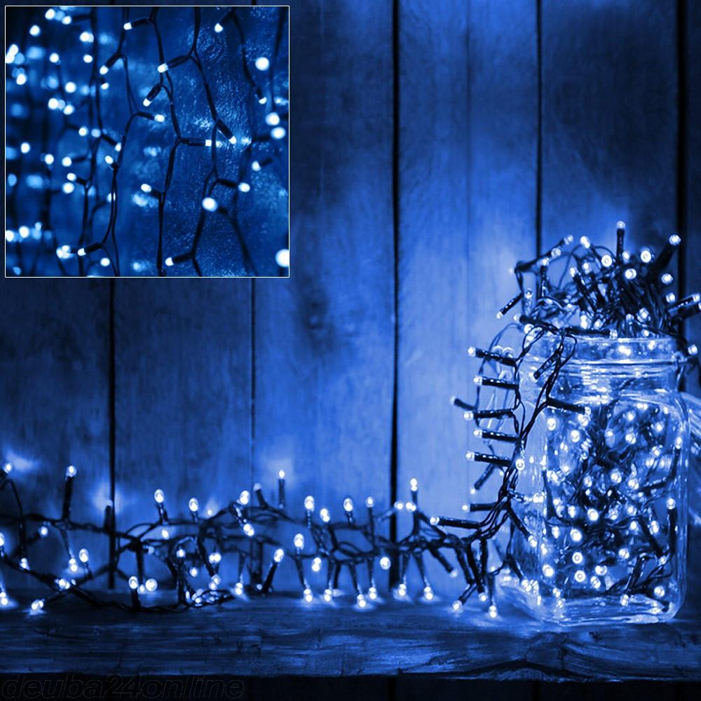 Goleto Vánoční LED osvětlení 7 m | modrá 100 LED