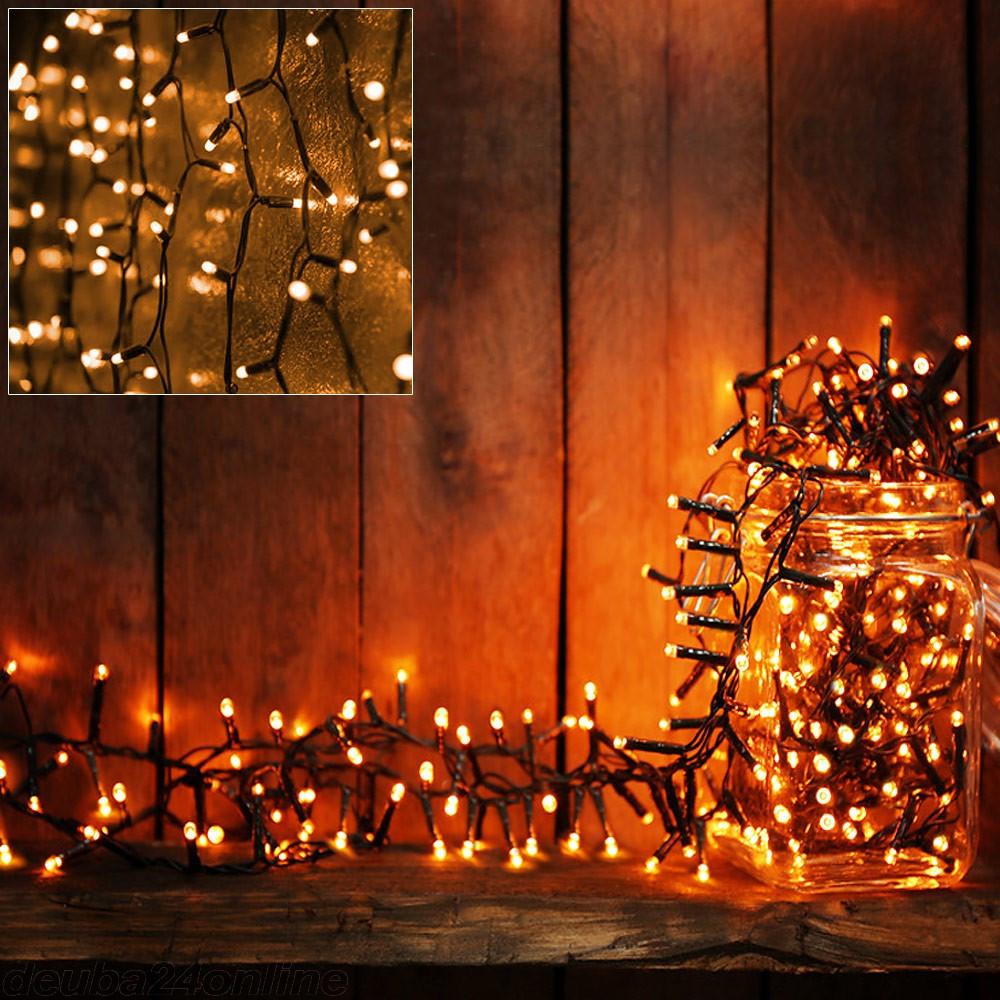 Goleto Vánoční LED osvětlení 7 m | teplá bílá 100 LED