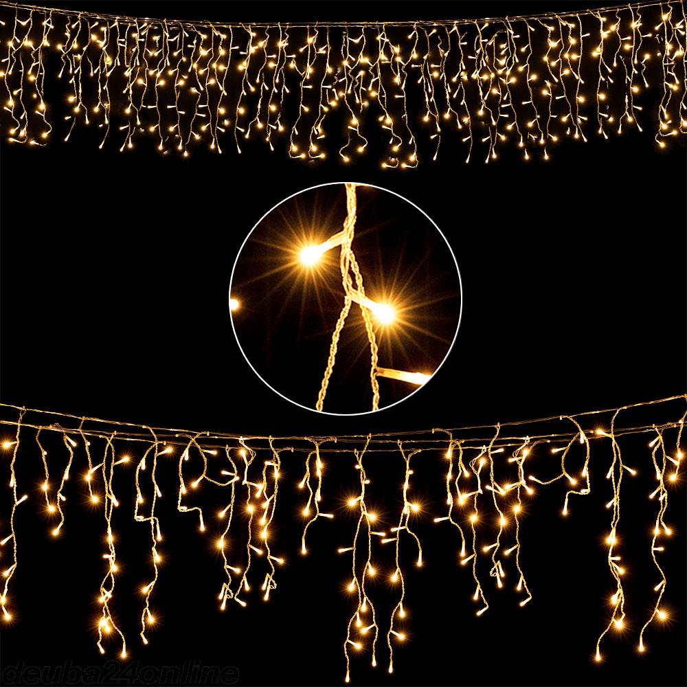 Goleto Vánoční světelný déšt´ 5 m | teplá bílá 200 LED