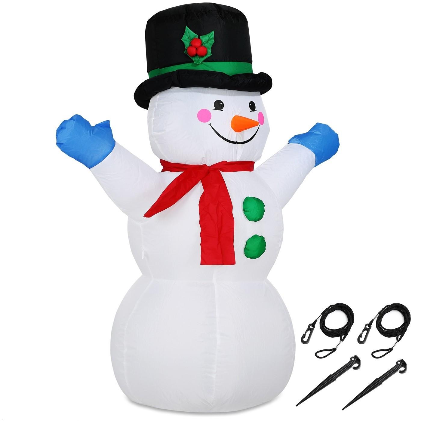 Goleto Nafukovací sněhulák s LED osvětlením | 120 cm
