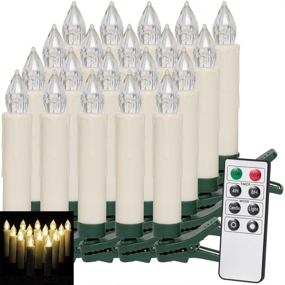 Goleto Vánoční svíčky na stromeček 20 LED | teplá bílá