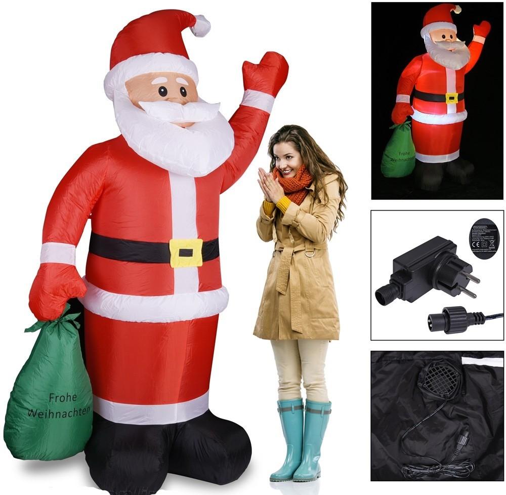 Goleto Nafukovací Santa Claus s LED osvětlením | 195 cm