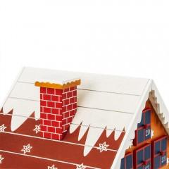 Dřevěný adventní kalendář Zimní chaloupka č.3
