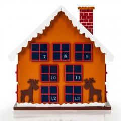 Dřevěný adventní kalendář Zimní chaloupka č.4