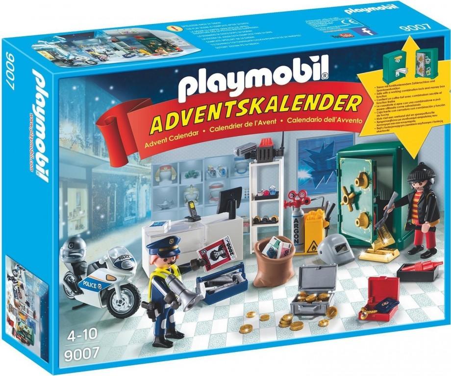 Adventní kalendář Playmobil 9007 Policejní zásah v klenotnictví