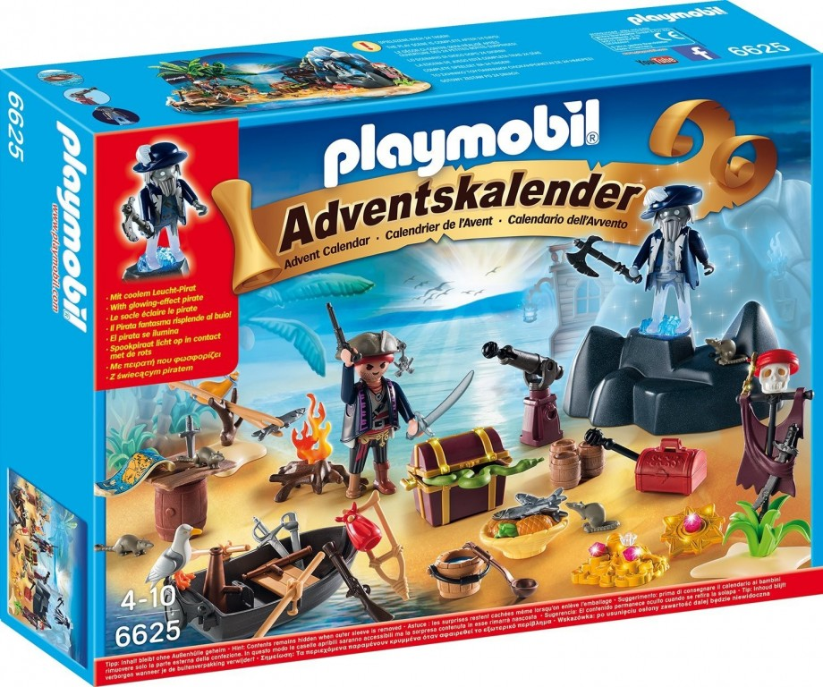Adventní kalendář Playmobil 6625 Tajemný pirátský ostrov pokladů