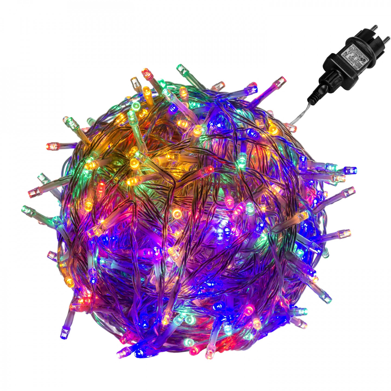 Goleto Vánoční LED osvětlení 20 m | barevné 200 LED