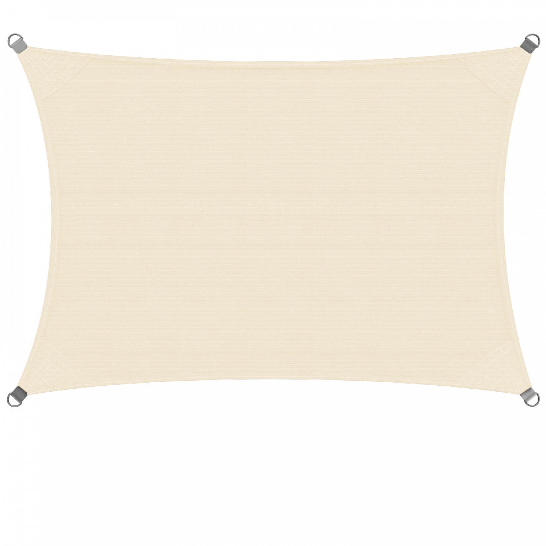 Goleto Stínící plachta proti slunci 3 x 4 m HDPE | krémová