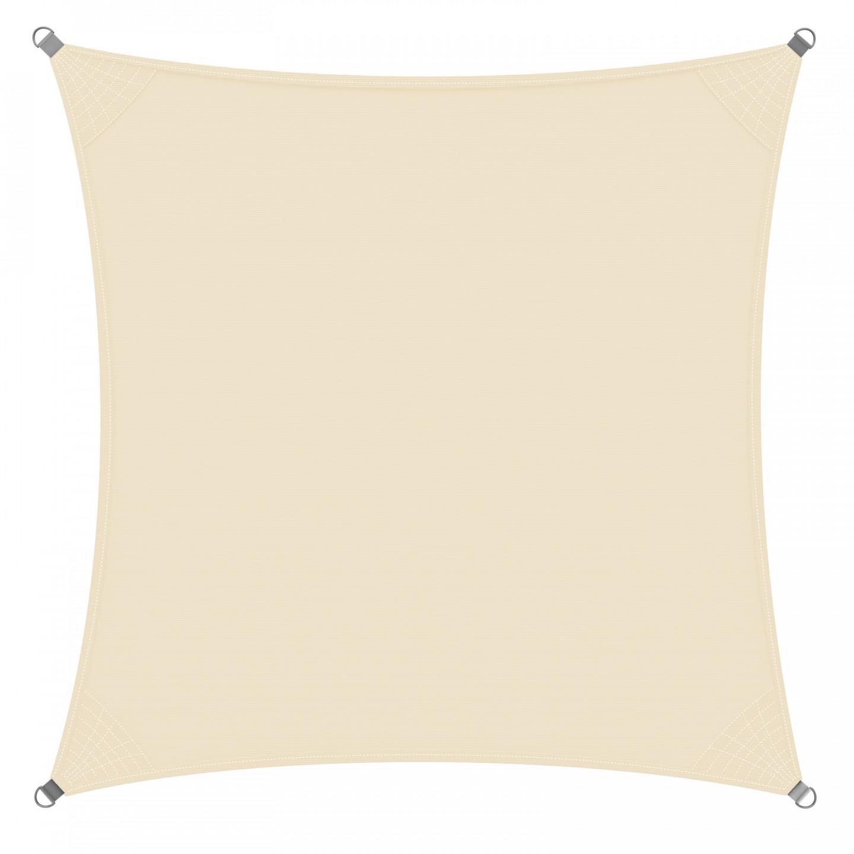 Goleto Stínící plachta proti slunci 3 x 3 m polyester | krémová