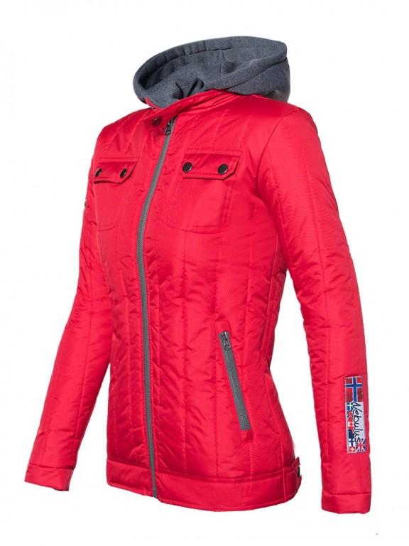 Dámská zimní bunda Nebulus červená S/36