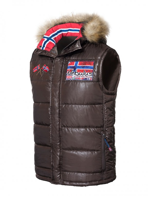 Pánská zimní vesta Nebulus hnědá XL