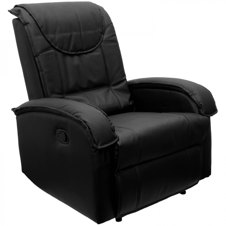 Goleto Relaxační křeslo s výklopnou podnožkou | černé