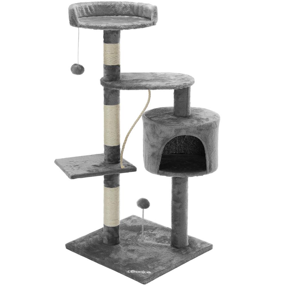 Goleto Škrabadlo pro kočky 112 x 67 x 55 cm   šedé