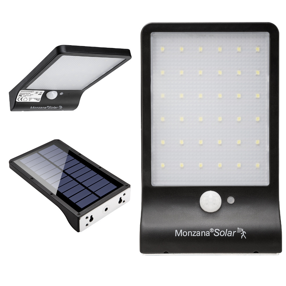 Goleto Nástěnné venkovní LED osvětlení s detektorem pohybu   36 LED
