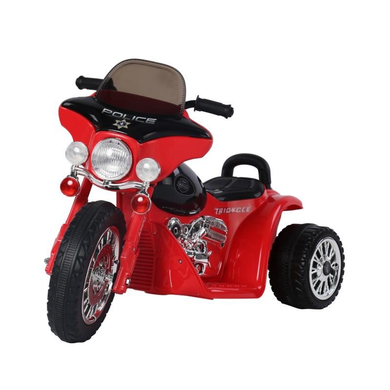 Goleto Dětská elektrická motorka Harley, červená