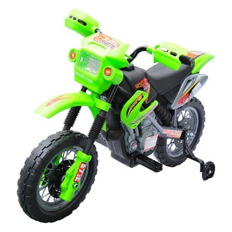 Goleto Dětská elektrická motorka Enduro, zelená