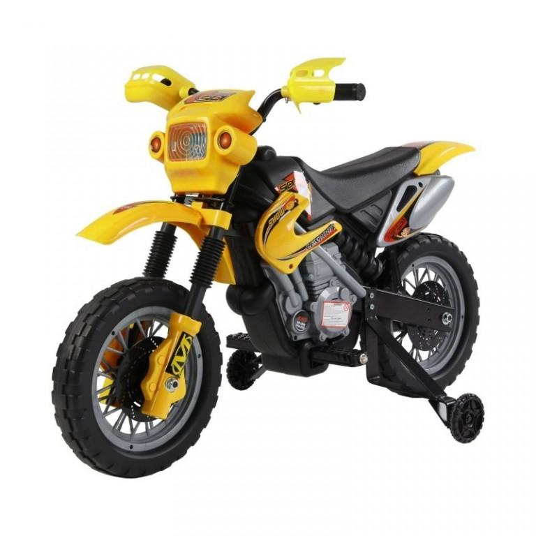 Dětská elektrická motorka Enduro, žlutá