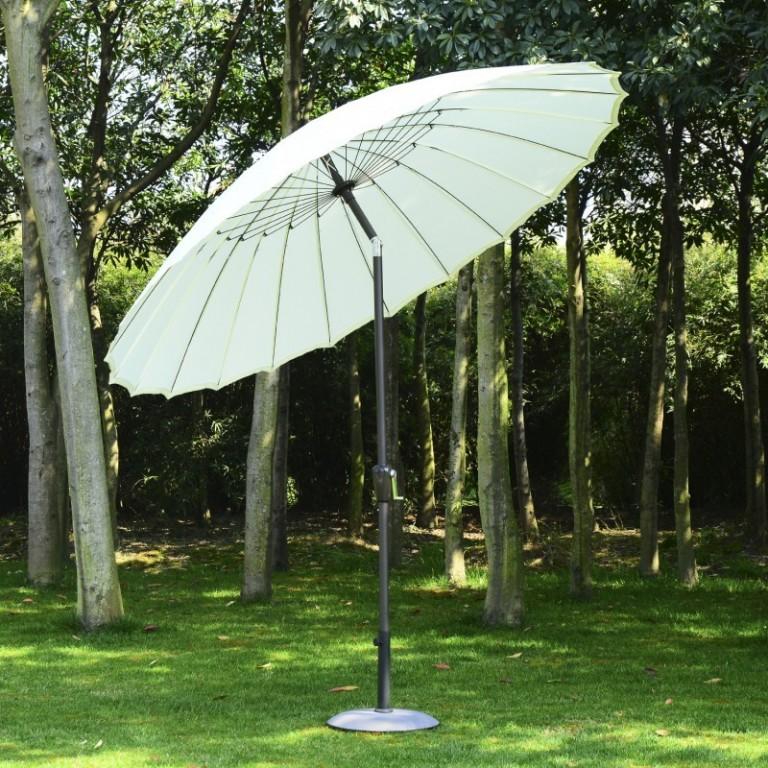 Zahradní slunečník 250 x 233 cm | bílý