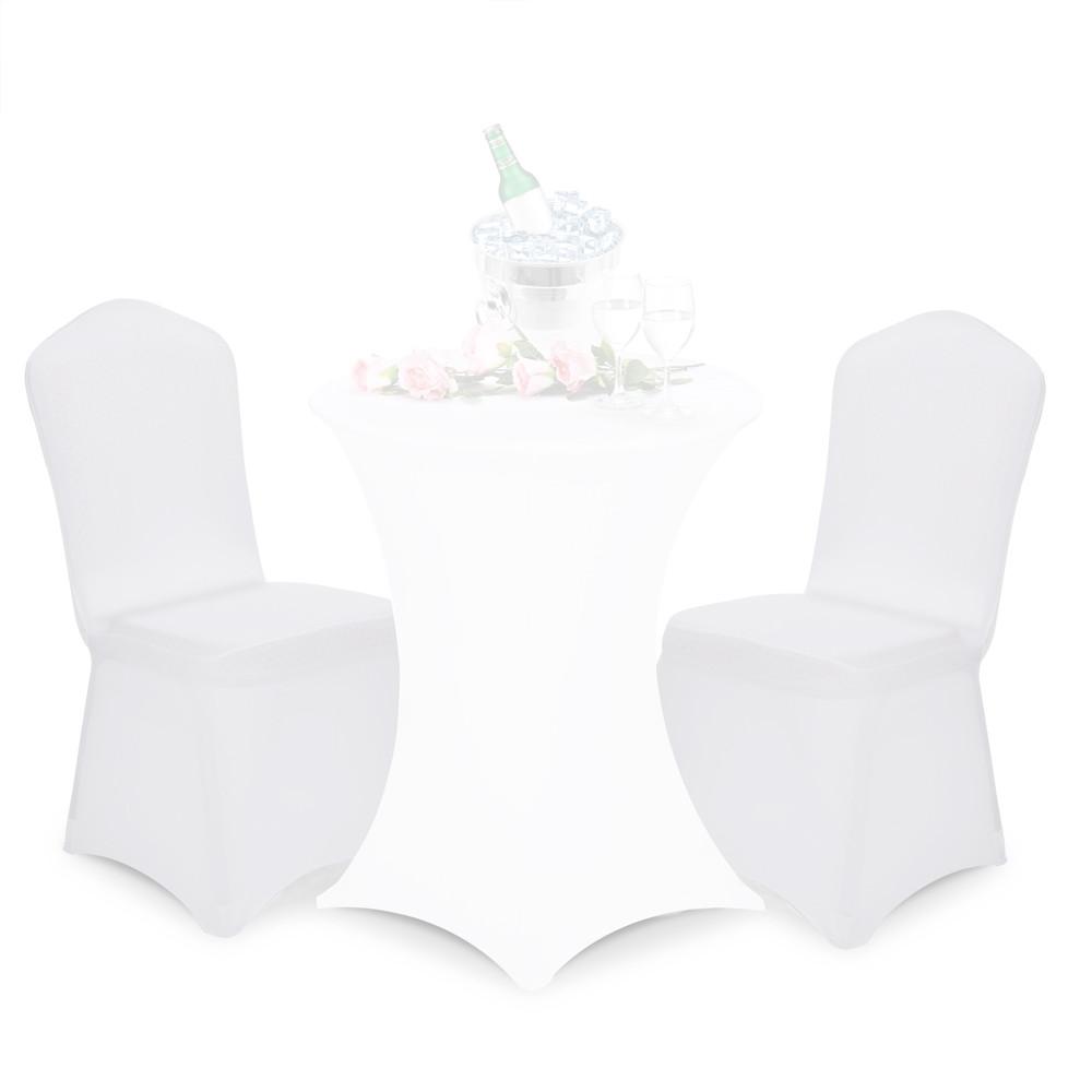 Goleto Strečové potahy na židle bílé | 2 kusy