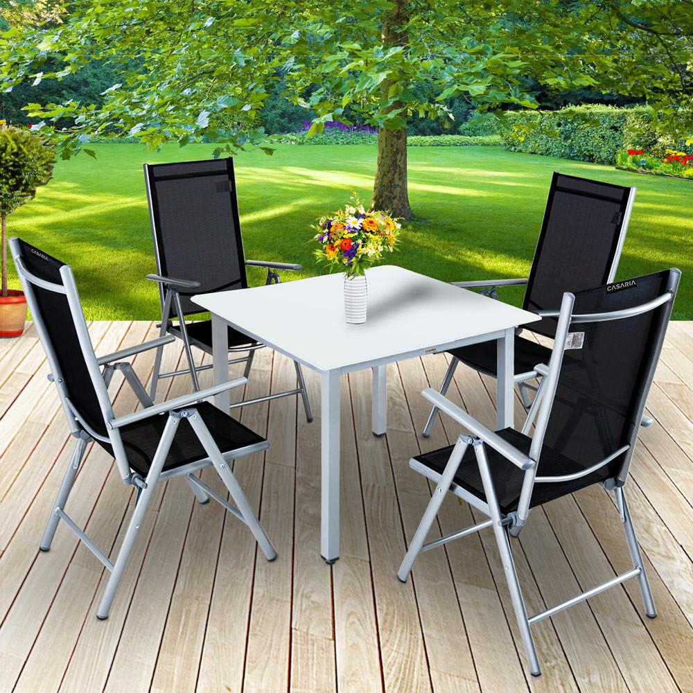 Goleto Zahradní hliníková sestava Björk | stůl + 4 židle