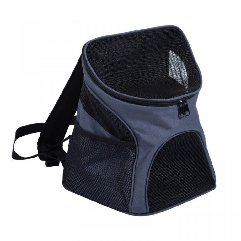Cestovní batoh na psa, šedý