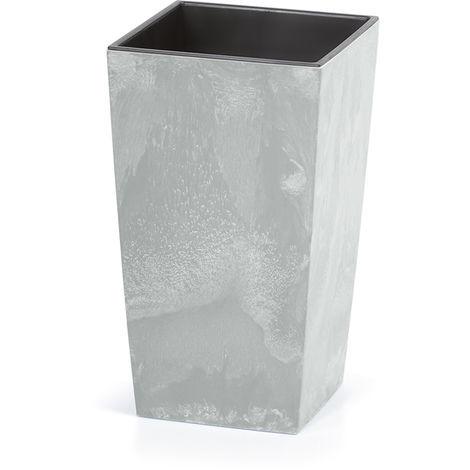 Goleto Plastový květináč 40 x 40 x 75 cm 91L | šedý