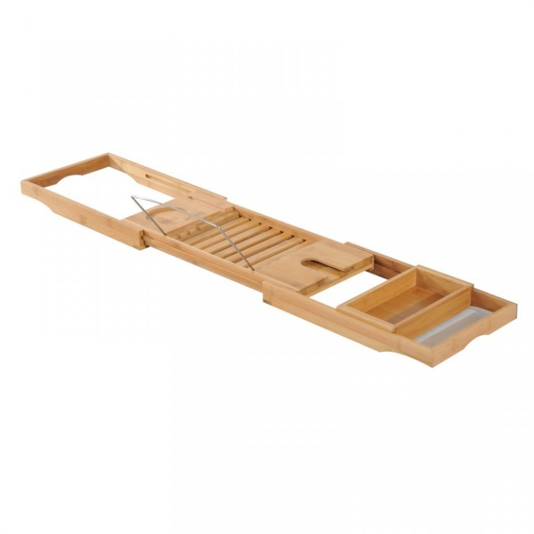 Bambusový podnos na vanu 75-109 cm